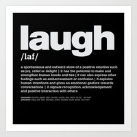 Definition LLL - Laugh 2 Art Print