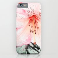iPhone & iPod Case featuring Pink rhododendron, azalea flower photo art. color pencil sketch style. by NatureMatters