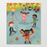 New York Fall Playground Canvas Print