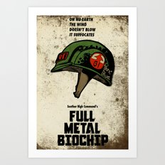Full Metal Biochip Art Print