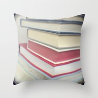 Something to read Throw Pillow