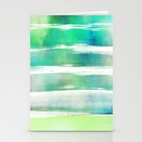 waves - turquoise Stationery Cards