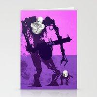 Papa Cyborg Baby Cyborg Stationery Cards