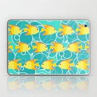 Yellow fish pattern Laptop & iPad Skin