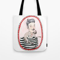 He Is A Cat Person! Tote Bag