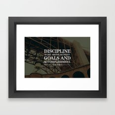 Typographic Quote Design  [Jim Rohn] Framed Art Print