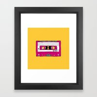 Vintage Mix Tape // Yell… Framed Art Print