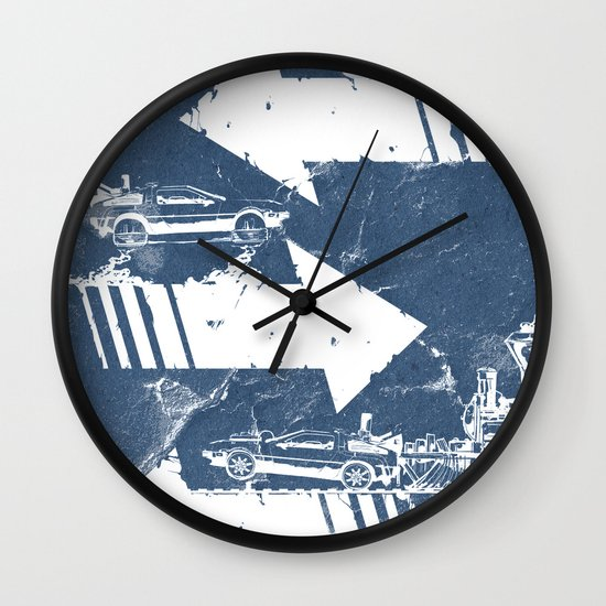 Back to the Future Minimalist Poster Wall Clock