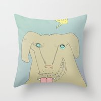 Dogdy Dog Throw Pillow