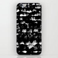 Black pattern#1 iPhone & iPod Skin