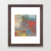 Multicolor Brush Strokes Framed Art Print