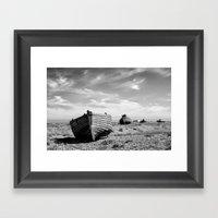 On Dungeness Beach Framed Art Print