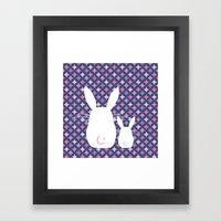 Bunny / Vintage Pattern … Framed Art Print