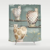 Cats in Cups Shower Curtain