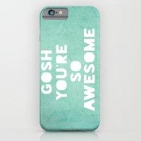 iPhone & iPod Case featuring Gosh by Rachel Burbee