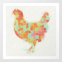 Oh, Hi Chicken Art Print