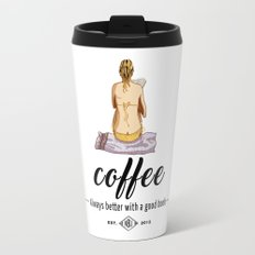Coffee - Always better with a good book Travel Mug