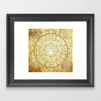 Journey Mandala Framed Art Print
