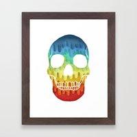 Paper Skull Framed Art Print