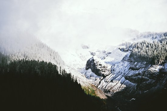 Mountain Valley Contrast Art Print