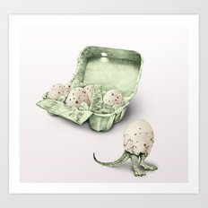 In which dinosaur eggs are hardly fit for human consumption  Art Print