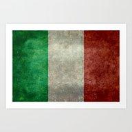 National Flag Of Italy -… Art Print