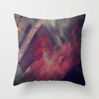 Pyramid Ablaze  Throw Pillow