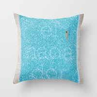 El Nadador Throw Pillow