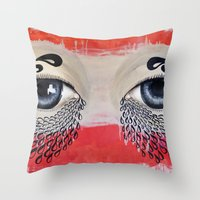 Tears Flow Throw Pillow