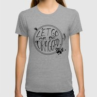Let Go Womens Fitted Tee Tri-Grey SMALL