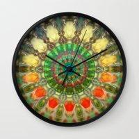 Sun Mandala 2 Wall Clock