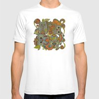4 Owls Mens Fitted Tee White SMALL
