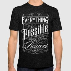 Everything is Possible Mens Fitted Tee Tri-Black SMALL