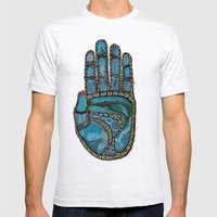 The Hand Of (Free)Time Mens Fitted Tee Ash Grey SMALL