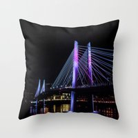 Tilikum Crossing In Blue… Throw Pillow