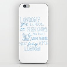 snatch quote blue iPhone & iPod Skin