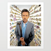 House MD - Colored Pencil Sketch Style Art Print