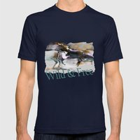 wild and free Mens Fitted Tee Navy SMALL