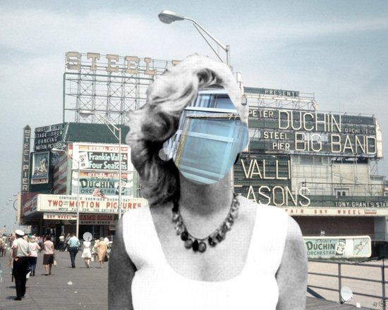 Marilyn meets Atlantic City Art Print