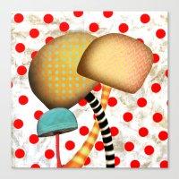 Mushrooms In Wonderland Canvas Print