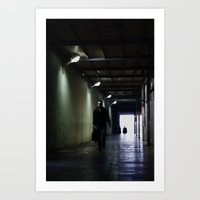 Dark Walk Art Print