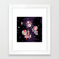 Space Rock Framed Art Print