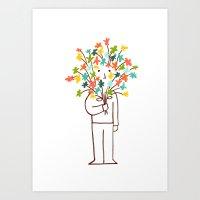 I Bring Flowers Art Print