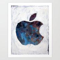 Painted Apple Art Print