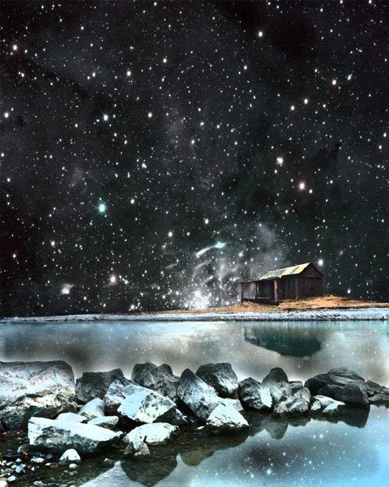 house by the sea Art Print