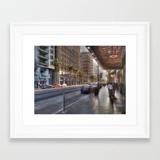 Los Angeles Life Framed Art Print