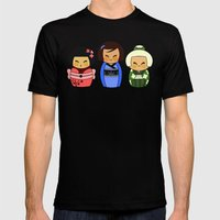 kokeshis (Japanese dolls) Mens Fitted Tee Black SMALL