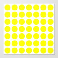 Canvas Print featuring BIG YELLOW DOT by Mr.DOT