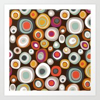 Veneto Boho Spot Chocola… Art Print