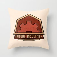 Future Industries Throw Pillow